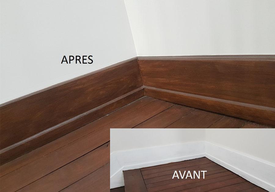 Plinthes en faux bois